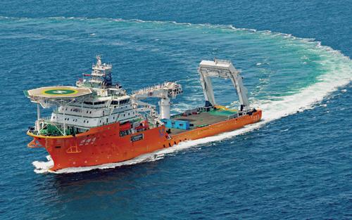 武船乐投体育国米建成中国首艘深潜水工作母船